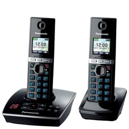 PANASONIC KX-TG8062EB Digital Cordless Phone with Answer Machine - Twin Pack Reviews
