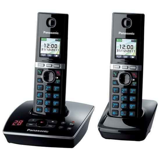 PANASONIC KX-TG8062EB Digital Cordless Phone with Answer Machine - Twin Pack