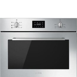 SMEG Cucina SF4400MCX Built-in Compact Combination Microwave - Stainless Steel