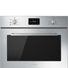 SMEG Cucina SF4400MCX Built-in Compact Combination Microwave - Stainless Steel Reviews