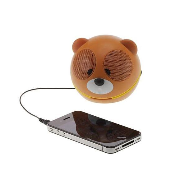 KITSOUND Mini Bear Portable Speaker - Brown