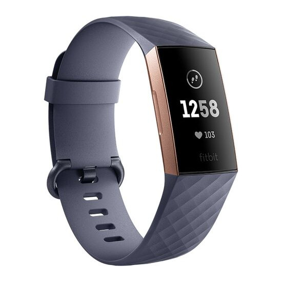 FITBIT Charge 3 - Blue Grey & Rose Gold Universal
