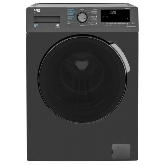 BEKO WDB7425R2A Bluetooth 7 kg Washer Dryer - Black