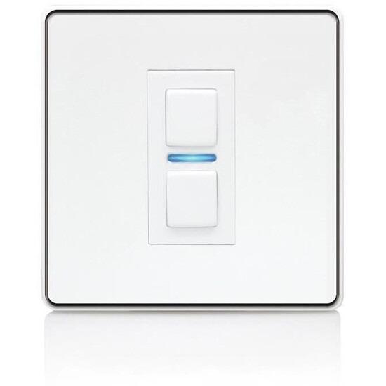 Lightwave Smart Series Dimmer (1 Gang) White Metal