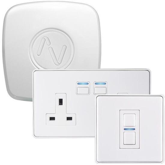 Lightwave Lighting & Power Starter Kit (Smart Series) White Metal