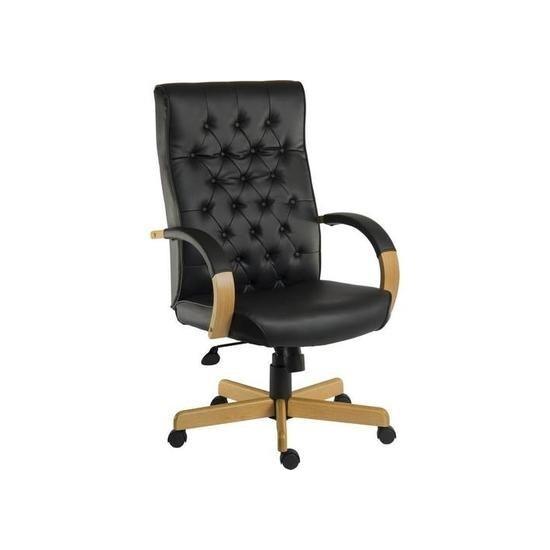 Teknik Warwick Leather Reclining Executive Chair - Black