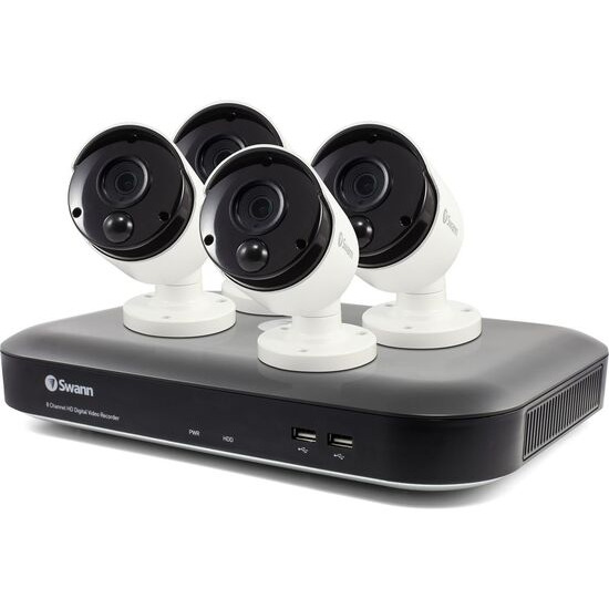 SWANN SWDVK-855804 8-Channel 4K Ultra HD Smart Security System - 2 TB 4 Cameras