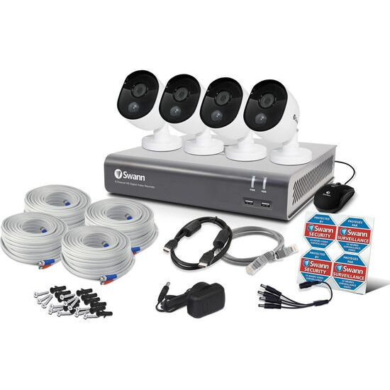 SWANN SWDVK-845804V 8-Channel Full HD 1080p Smart Security System - 1 TB 4 Cameras