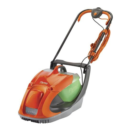FLYMO Glider 330 Corded Hover Lawn Mower - Orange & Grey