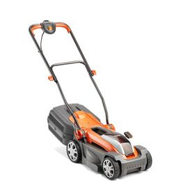 FLYMO Mighti-Mo Cordless Rotary Lawn Mower - Orange & Grey