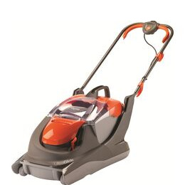 FLYMO UltraGlide Corded Hover Lawn Mower - Orange & Grey