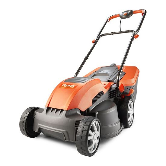 FLYMO Speedi-Mo 360C Rotary Lawn Mower - Orange & Grey