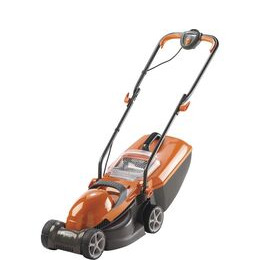 FLYMO Chevron 32VC Rotary Lawn Mower - Orange & Grey