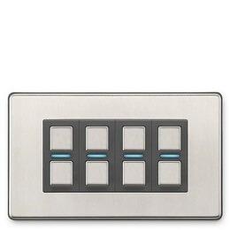 Lightwave Smart Series Dimmer (4 Gang) Stainless Steel