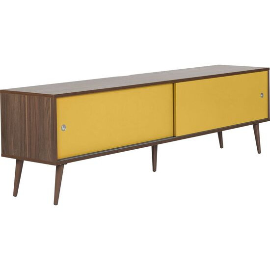Retro 1800 mm TV Stand - Walnut & Yellow