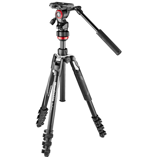 Manfrotto Befree Live Aluminium Tripod Lever with Fluid Video Head Advanced Kit