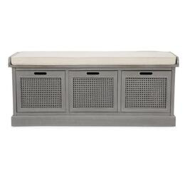 Lucy Cane Grey Storage Bench