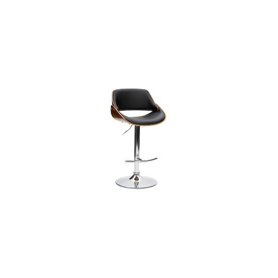 Trento Black Gas lift Bar Chair