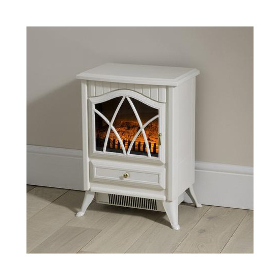 Small White Stove Effect Heater