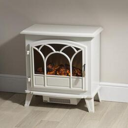 Large Off-White Stove Effect Heater