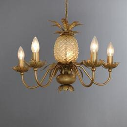 Havana Gold Pineapple 5 Light Ceiling Fitting Gold