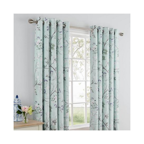 Dorma Maiya Duck Egg Lined Eyelet Curtains