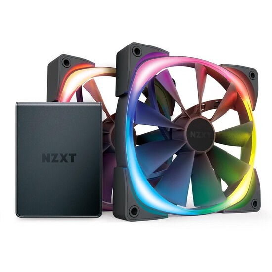 NZXT Aer RGB 2 Dual Fan Pack with HUE 2 Controller - 140 mm