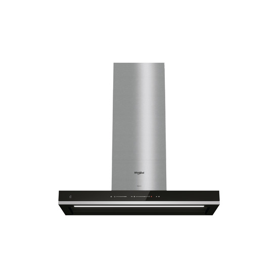 Whirlpool W Collection WHSS 90F TS K Cooker Hood Stainless Steel and Black