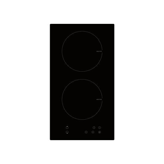 electriQ 30cm Domino Two Zone Induction Hob Black - Plug in and go !