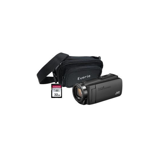 JVC GZ-R495 Black 4GB Memory HD Quad Proof Camcorder Kit inc 32GB SD and Case
