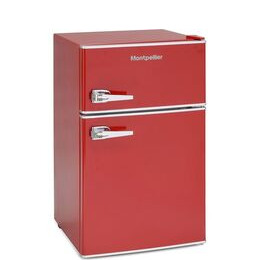Montpellier MAB2030R Undercounter Fridge Freezer - Red