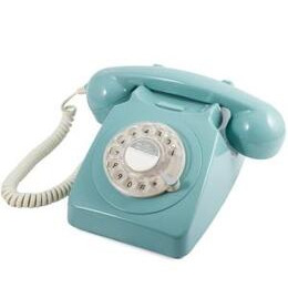GPO 746 Retro Rotary Dial Telephone - Blue