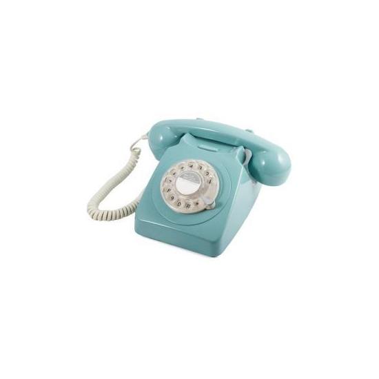 GPO 746 Retro Rotary Dial Telephone - Blue