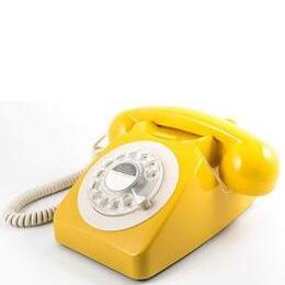 GPO 746 Retro Rotary Dial Telephone - Mustard