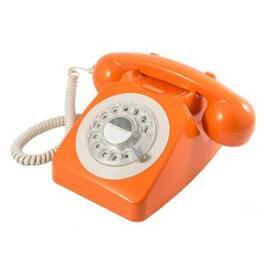 GPO 746 Retro Rotary Dial Telephone - Orange