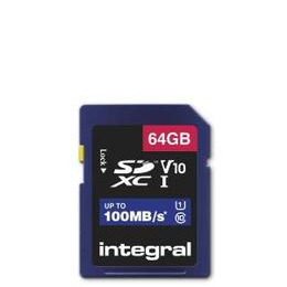 Integral 64GB High Speed V10 100mb Class 10 UHS-I U1 SDHC Memory Card Reviews