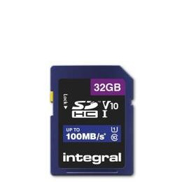 Integral 32GB High Speed V10 100mb Class 10 UHS-I U1 SDHC Memory Card Reviews