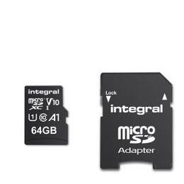 Integral 64GB High Speed V10 UHS-I U1 MicroSDHC Memory Card