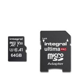 Integral 64GB High Speed V30 UHS-I U3 MicroSDHC Memory Card