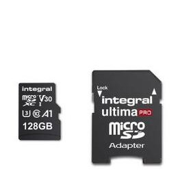 Integral 128GB High Speed V30 UHS-I U3 MicroSDHC Memory Card