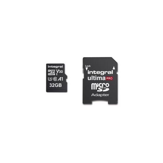 Integral 32GB High Speed V30 UHS-I U3 MicroSDHC Memory Card