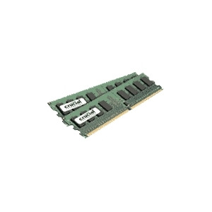 Photo of Crucial - Memory - 4 GB ( 2 X 2 GB ) - DIMM 240-Pin - DDR II - 667 MHZ / PC2-5300 - CL5 - 1.8 V - Unbuffered - Non-ECC Computer Component