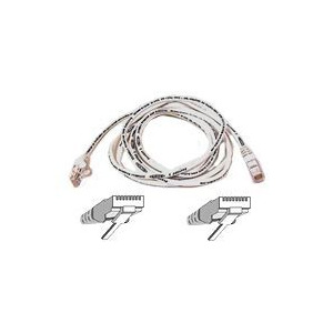 Photo of BELKIN CAT 5 UTP SNAGLESS MOULDED PATCH CABLE WHITE 10M Adaptors and Cable