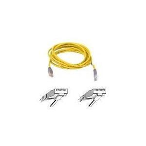 Photo of BELKIN CAT5E UTP CROSSOVER CABLE YELLOW 5M Adaptors and Cable