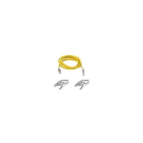 BELKIN CAT5E UTP CROSSOVER CABLE YELLOW 5M