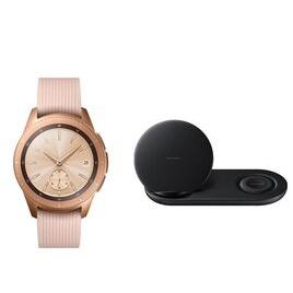 SAMSUNG 42 mm Galaxy Watch (Rose Gold) & Duo Qi Wireless Charging Pad Bundle Reviews