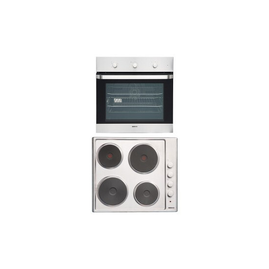 Beko OSF22110X Integrated Electric oven and Hob bundle