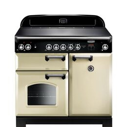 Rangemaster Classic CLA100ECCR/C Electric Range Cooker - Cream & Chrome