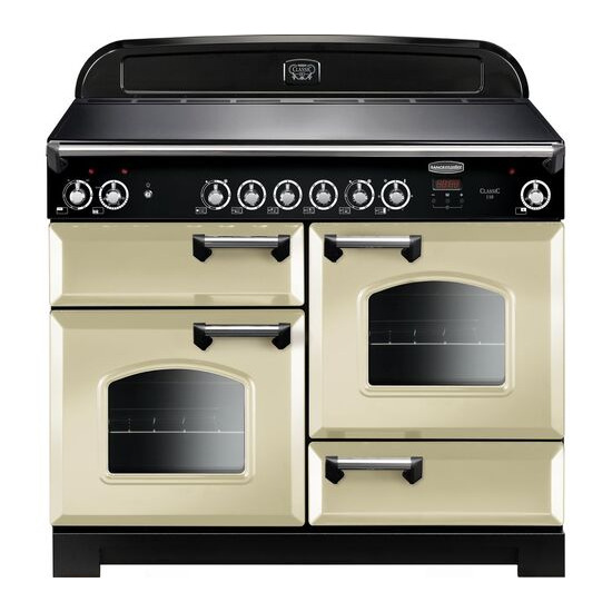 Rangemaster Classic CLA110ECCR/C Electric Ceramic Range Cooker - Cream & Chrome
