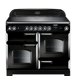 Rangemaster Classic CLA110ECBL/C Electric Ceramic Range Cooker - Black & Chrome